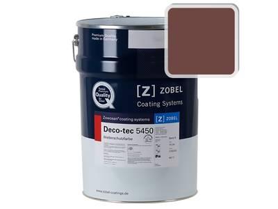 Краска для дерева акриловая ZOBEL Deco-tec 5450C RAL 8012 шелковисто-матовая, 1 л Изображение