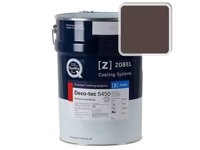Краска для дерева акриловая ZOBEL Deco-tec 5450C RAL 8017 шелковисто-матовая, 1 л Изображение