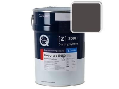 Краска для дерева акриловая ZOBEL Deco-tec 5450C RAL 8019 шелковисто-матовая, 1 л Изображение