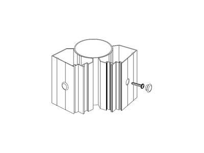 Заглушка декоративная 12 мм ALUTECH-ALT111 Изображение 2