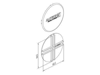 Заглушка торцевая для профиля трубы ALUTECH-ALT111 Изображение