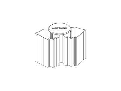 Заглушка торцевая для профиля трубы ALUTECH-ALT111 Изображение 2