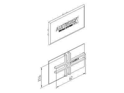 Заглушка торцевая для стойки 1 стекло ALUTECH-ALT111 Изображение