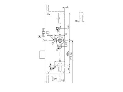 Многозапорный замок Maco G-TS с 4V-цапф. с прив. от ручки (PZ/35/16/92/8 мм) Изображение 3