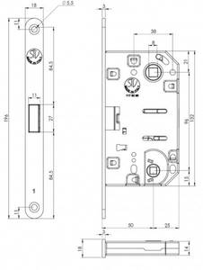 Замок магнитный STV WC, ширина штульпа 18 мм, универсальный, с ответной планкой W8 и винтами, хром матовый Изображение 3