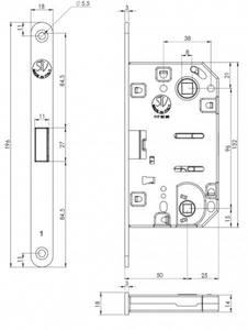 Замок магнитный STV WC, штульп овал 18 мм, черный, крашенный, с ответной планкой W7 и винтами Изображение 2