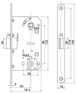[ПОД ЗАКАЗ] Замок механический MAXBAR с пластиковой защелкой, с ответной планкой для дверей без наплава и пластиковым карманом, универсальный, для сантехнических узлов, 50x96x18, хром матовый Изображение 5