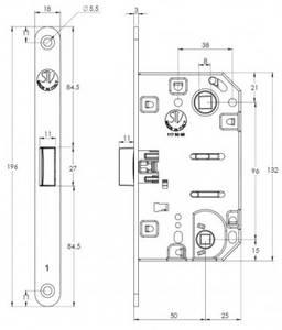 Замок механический WC 50x8x96x6 ширина штульпа 18 мм, универсальный, c винтами, черный крашенный Изображение