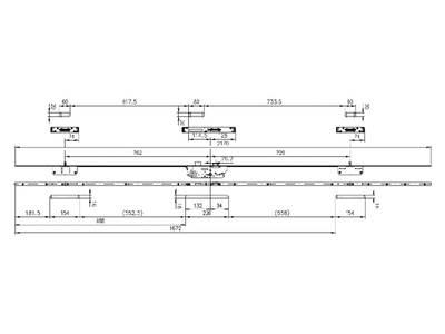 Дверной многозапорный замок Maxbar/FUHR Multisafe 855GL (U24х6/30/92/8 мм) Изображение 2
