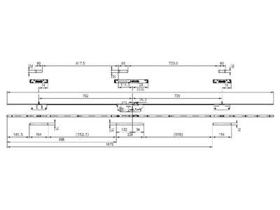 Дверной многозапорный замок Maxbar/FUHR Multisafe 856 (F24х6/30/92/8 мм) Изображение 2
