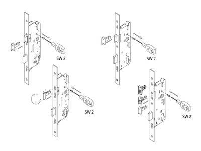 Дверной многозапорный замок Maxbar/FUHR Multisafe 855GL (45/16/92/8 мм) Изображение