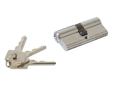 Замок ригельный с защелкой ELEMENTIS 153/F23/25/85/8 c ответной планкой, 2 накладки с ПЦ 35х35, 3 ключа Изображение 9