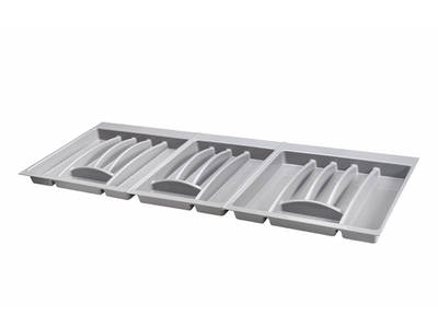 Лоток для столовых приборов Firmax Alpha, база 400-450мм, серый Изображение 7